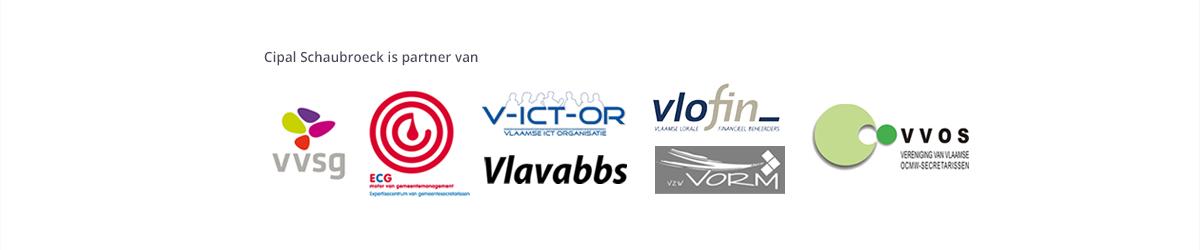 Cipal Schaubroeck is partner van VVSG, ECG, VICTOR, VLAVABBS, VLOFIN, VORM en VVOS